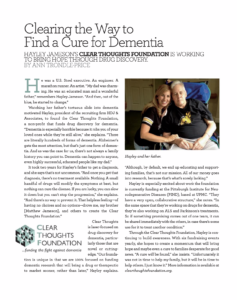 Clearing the way to find a cure for dementia